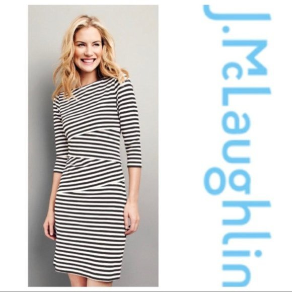 J.McLaughlin Nicola Dress Striped Tiered Stretch